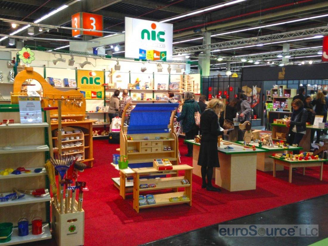 Nic Wooden Toys Booth Nuremberg 2015
