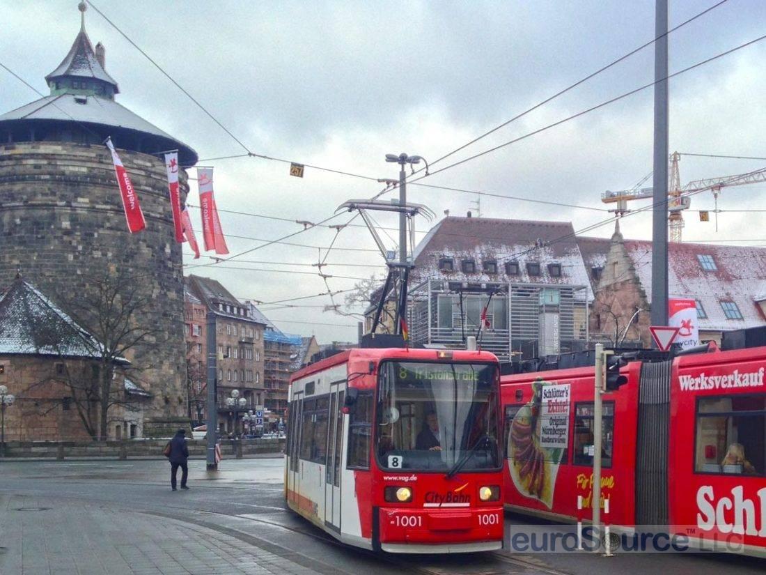 Nuremberg Altstadt From Hauptbahnhof