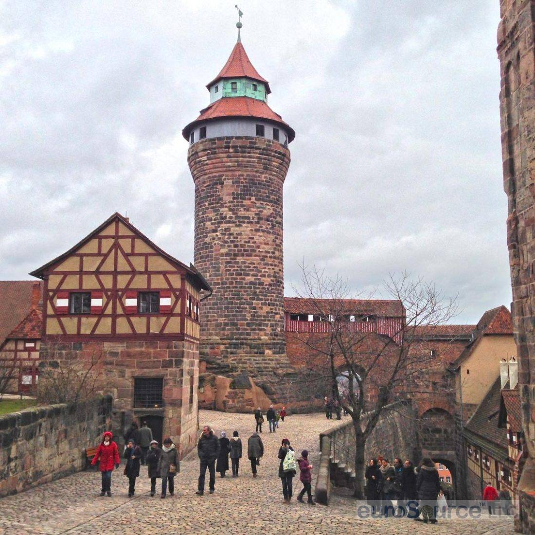 Nuremberg Castle Tower From Courtyard