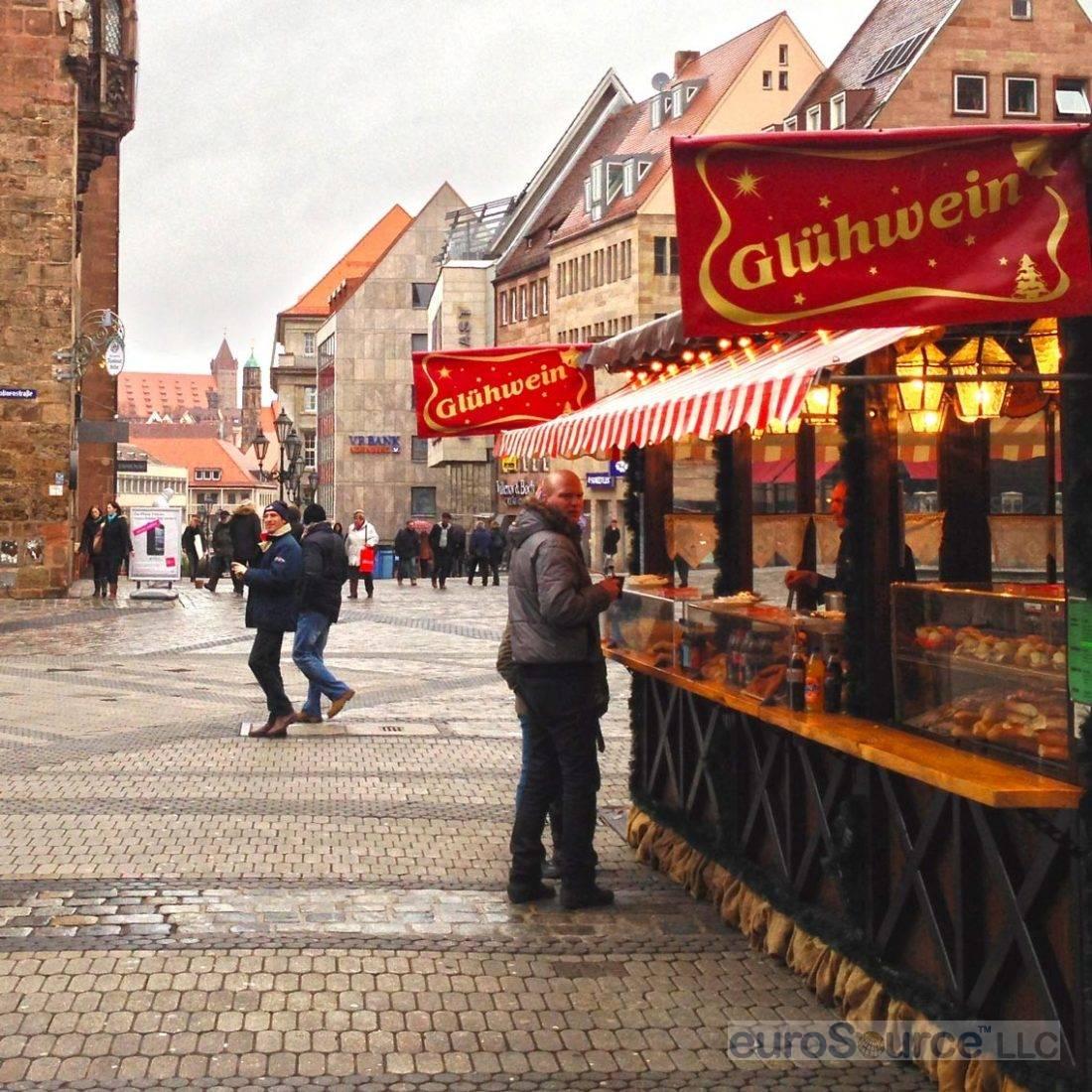 Nuremberg Gluhwein Stand St Lorenz