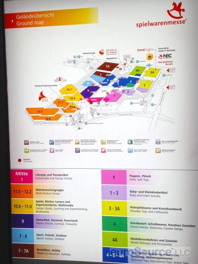 Nuremberg Toy Fair Map 2016