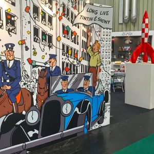 Moulinsart Tintin booth